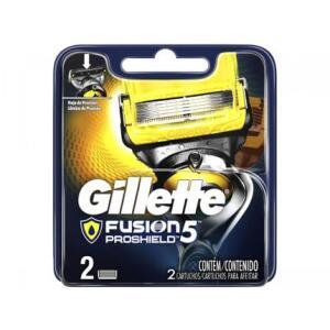 Lâmina de Barbear Gillette Fusion - Proshield 2 Peças | R$23
