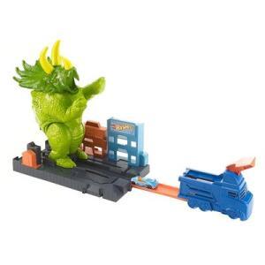 Pista de Percurso e Veículo - Hot Wheels City - Smashin' Triceratops - Mattel | R$100