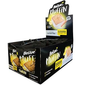 [Prime] Muffin Banana com Canela e Chia | Sem: Açúcar, glúten, lactose - Belive 10un | R$24