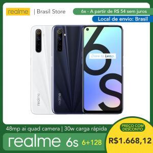 (ESTOQUE NO BRASIL) Smartphone Realme 6s 6gb 128gb | R$1713