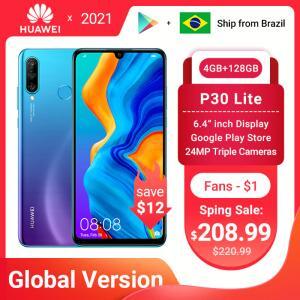 Smartphone HUAWEI P30 lite 4gb 128gb   R$1250