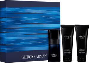 Kit Giogio Armani Code EDT 50ml + Gel de Banho 75ml + Pós-Barba 75ml