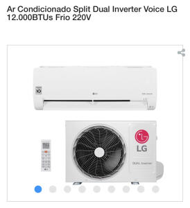Ar Condicionado Split Dual Inverter Voice LG 12.000BTUs Frio 220V | R$ 1674