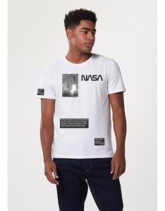 Camiseta Unissex Manga Curta Com Estampa Nasa Hering R$23