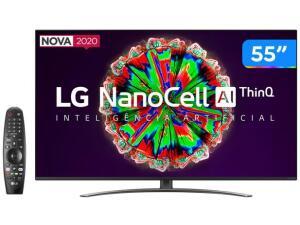 """Smart TV 4K NanoCell IPS 55"""" LG R$3099"""