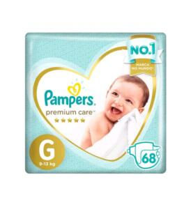 (Cliente ouro +2 unidades) Fralda Pampers Premium Care G 68 unidades - R$118