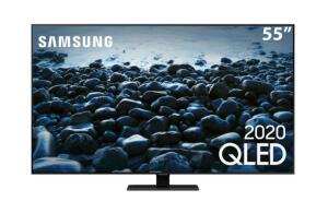 "Smart TV QLED 55"" 4K Samsung 55Q80T | R$4749"