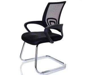 Cadeira interlocutor Wave Pierre preta | R$210