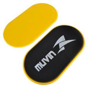 Disco de Deslizamento - Par - Preto/Amarelo - Muvin | R$30