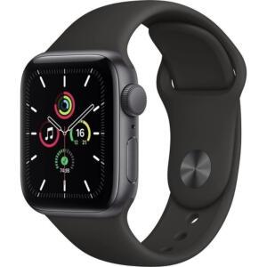 Apple Watch Se 40mm - Caixa Cinza-Espacial e Pulseira Esportiva Preto | R$2389