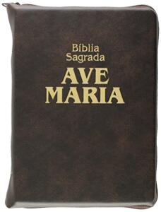 Bíblia Zíper Média Marrom Capa comum - R$25