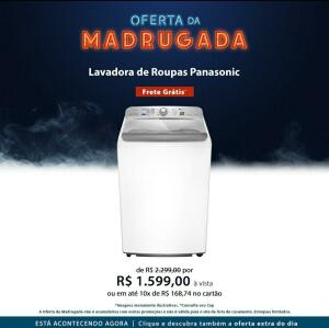 Lavadora de Roupas Panasonic 16 kg Branca com 09 Programas de Lavagem R$1599