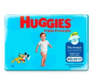 Fralda Huggies Tripla Proteção Mega XG 32 Unidades - R$26