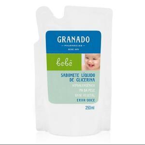 Refil Sabonete Líquido Granado Glicerina Bebê Erva DoceRefil 250ml [Mínimo 2 Und ] | R$ 5,24