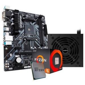 Kit Processador AMD Ryzen 5 1600 + Fonte Gigabyte GP-P550B 550W + Placa-Mãe Gigabyte B450M S2H | R$1.570