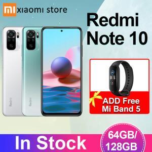 Smartphone Xiaomi Redmi Note 10 4GB 64GB/128GB + Free Gift Mi Band 5   R$1.138