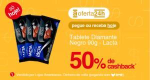 [APP/AME 50%] Diamante Negro Lacta 90g R$ 2,5