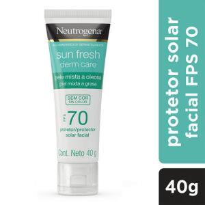 Protetor Solar Neutrogena Sun Fresh Sem Cor FPS70 Para Pele Oleosa | R$34