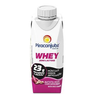 [Prime] Piracanjuba Whey Zero Lactose Batata-Doce com Gengibre 250ml (Min.4) | R$3,60