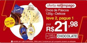 [APP] Ovos de Páscoa Delicce 120g - Leve 2, pague 1 | R$22