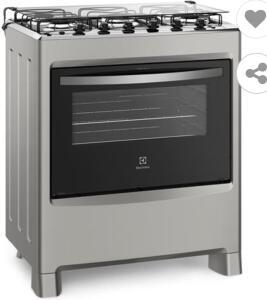 Fogão Electrolux 5 Bocas 76LSU com Queimadores Robustos – Silver | R$1108