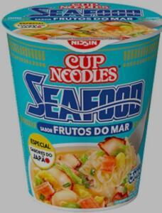 Cup Noodles Sabor Frutos Do Mar Nissin 65g | R$2,87