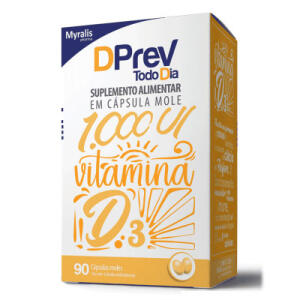 Vitamina D Colecalciferol Dprev Todo Dia 1000UI 90 Cápsulas | R$10