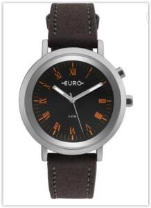 Relógio Feminino Analógico Euro EU2036YMA/2P - Prata/Preto   R$ 125