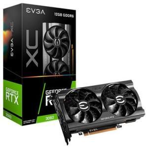 Placa de Vídeo EVGA GeForce RTX 3060 XC GAMING, 12GB GDDR6, DualFan, Metal Backplate, DLSS, Ray Tracing - 12G-P5-3657-KR