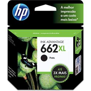 Cartucho HP 662XL Preto Original - (CZ105AB) - R$89