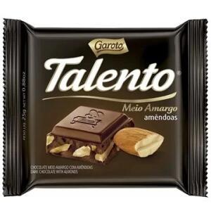Chocolate Talento Meio Amargo 25g - 15 unidades - Garoto R$19