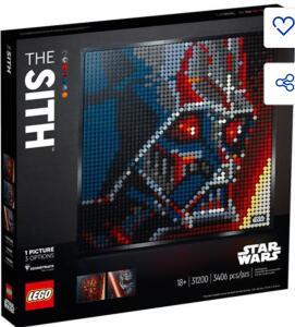 LEGO ART Star Wars Os Sith 31200 - 3406 Peças R$892