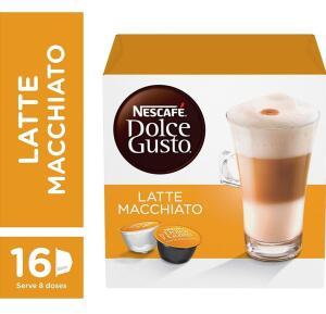 [Leve 4 pague 3 + recorrência] Nescafe Dolce Gusto, Latte Macchiato, 16 Cápsulas   R$17