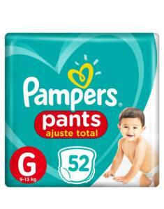 Fralda Pampers Pants Ajuste Total G 52 unidades | R$ 47