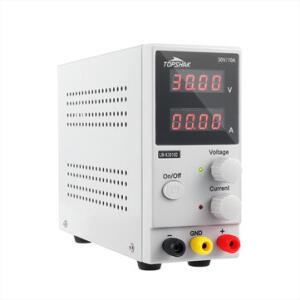 Fonte de energia TOPSHAK K3010D com display LED de 4 dígito, 30V, 10A | R$321