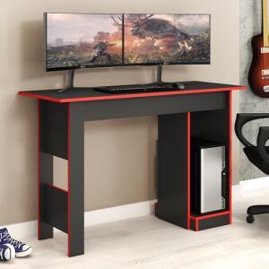 Mesa De Computador Gamer Fellicci Móveis Grafite E Vermelho | R$ 162
