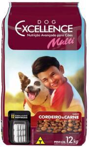 [Prime] Ração Dog Excellence Adulto Mult Carne e Cordeiro 12kg | R$59