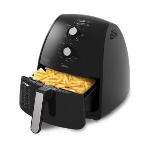 Fritadeira Elétrica Midea Air Fryer Sem Óleo Preto 4L FRP4 220V | R$119