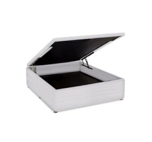 Cama Box Baú Ortobom Courino Branca Casal 138   R$ 419