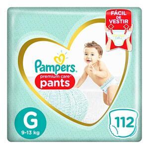 Fralda Pampers Pants Premium Care, tamanho G - 112 unidades | R$120