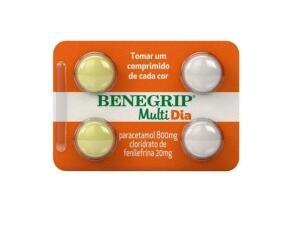 [Leve 2 pague 1] Antigripal Benegrip Multi Dia 4 Comprimidos   R$ 4