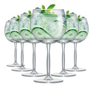Taça De Gin Em Cristal Kit 6 Pcs | R$ 70