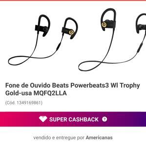 [AME 50%] Fone de Ouvido Beats Powerbeats3 Wl Trophy Gold-usa MQFQ2LLA | R$ 849