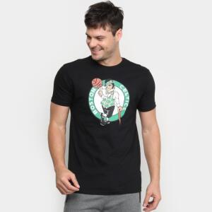 Camiseta NBA Boston Celtics Big Logo Masculina - Preto   R$ 25