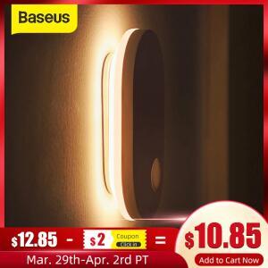 Luz Noturna de LED com sensor de movimento Recarregável Baseus PIR | R$ 72