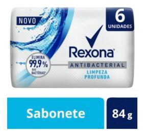 3 KITS | SABONETE EM BARRA REXONA ANTIBACTERIAL LIMPEZA PROFUNDA | R$6 cada