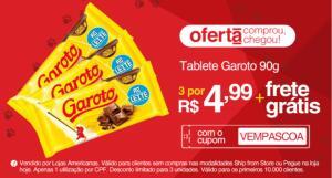 [APP] 3 Tabletes Garoto 90g sabores | R$4,99