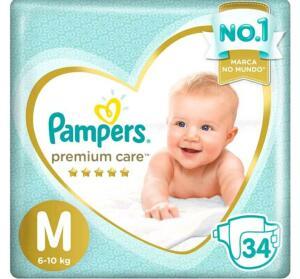 [Cliente Ouro] Fralda Pampers Premium Care - M - 34 unidades R$ 18