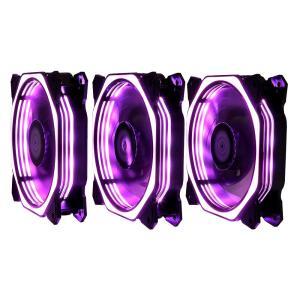 Kit Cooler FAN Rise Mode RGB Aura, 3x120mm R$170