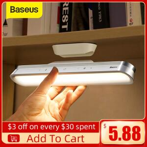 Lâmpada de escritório com base magnética recarregável Baseus | R$127